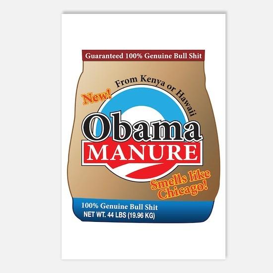 Obama Manure Postcards (Package of 8)