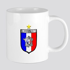 French Football Shield 20 oz Ceramic Mega Mug