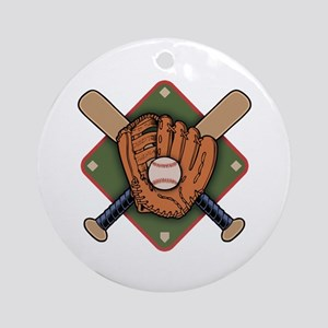 Mitt & Crossbats Ornament (Round)