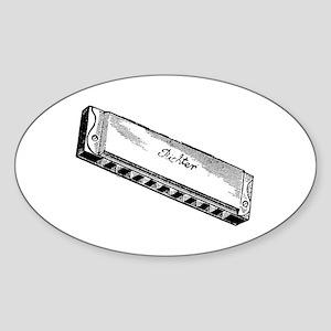 Harmonica/Blues Harp Oval Sticker