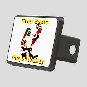 Even Santa Plays Hockey Rectangular Hitch Cover