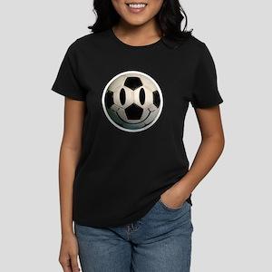 Soccer Smiley Women's Dark T-Shirt