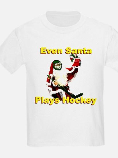 Even Santa Plays Hockey T-Shirt
