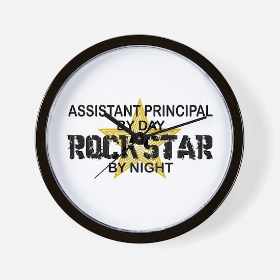 Asst Principal RockStar by Night Wall Clock