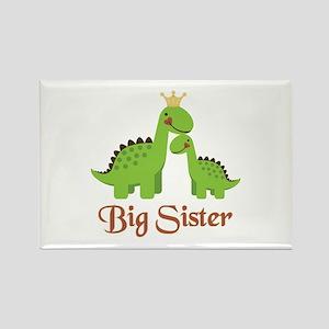 Big Sister Dino Rectangle Magnet