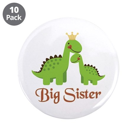 """Big Sister Dino 3.5"""" Button (10 pack)"""