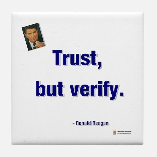 Reagan Trust Tile Coaster