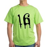 16th Birthday Green T-Shirt