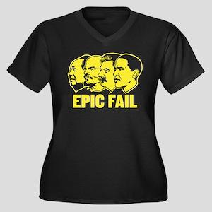 Epic Fail Obama Women's Plus Size V-Neck Dark T-Sh