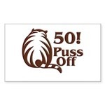 50th Birthday Rectangle Sticker