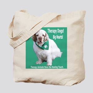 """""""Therapy Dogs! Big Hearts!"""" Tote Bag"""