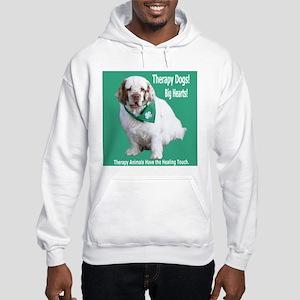 """Therapy Dogs! Big Hearts!"" Hooded Sweatshirt"