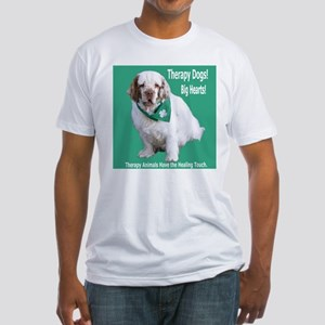 """Therapy Dogs! Big Hearts!"" Fitted T-Shirt"