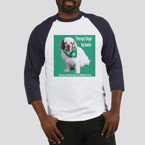 """Therapy Dogs! Big Hearts!"" Baseball Jersey"