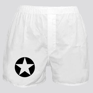 Black Disc Star Boxer Shorts