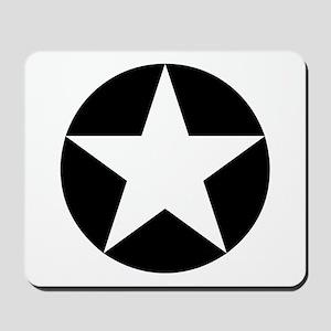 Black Disc Star Mousepad
