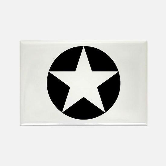 Black Disc Star Rectangle Magnet
