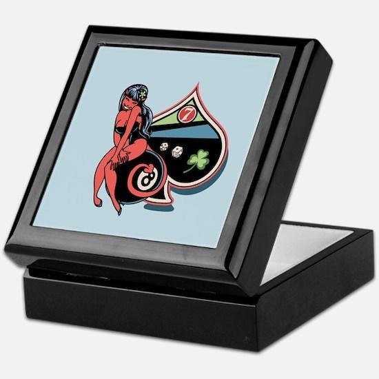 Lucky Devil Girl Keepsake Box
