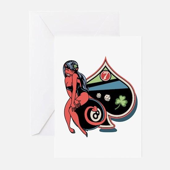Lucky Devil Girl Greeting Cards (Pk of 10)