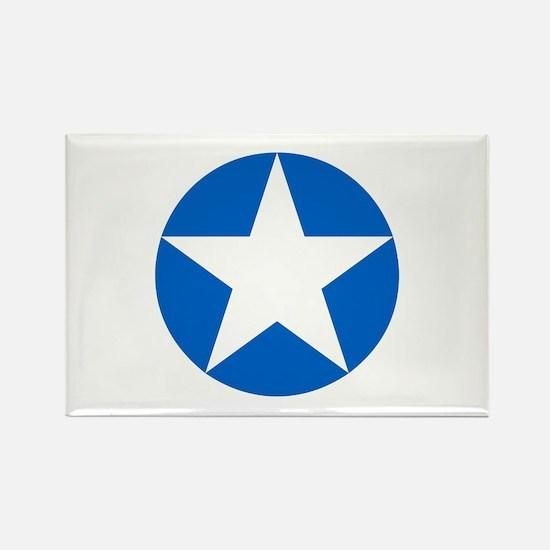 Blue Disc Star Rectangle Magnet
