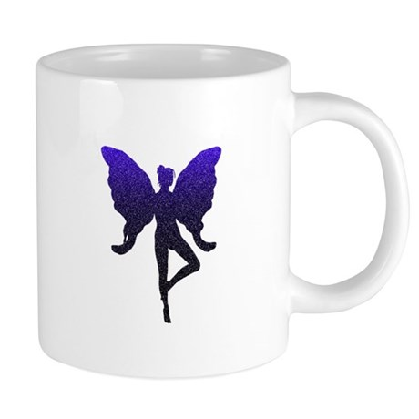 Dancing Glitter Fairy (Navy 20 oz Ceramic Mega Mug