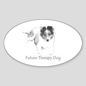Future Therapy Dog Oval Sticker