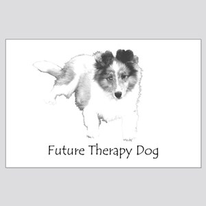 Future Therapy Dog Large Poster