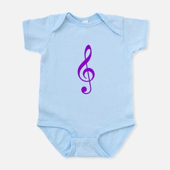 Purple Clef Infant Bodysuit