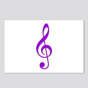Purple Clef Postcards (Package of 8)