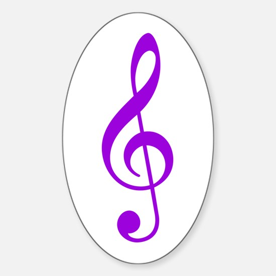 Purple Clef Oval Decal