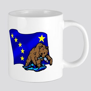 Alaskan Bear Flag 20 oz Ceramic Mega Mug