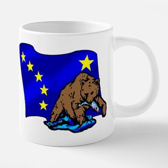 Alaskan Bear Flag 20 oz Ceramic Mega Mug