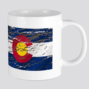 Colorado Vintage Flag 20 oz Ceramic Mega Mug