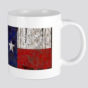 Retro Flag of Texas 20 oz Ceramic Mega Mug