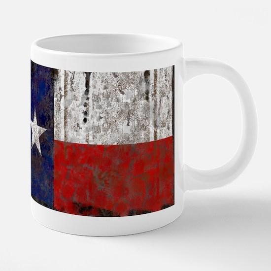 Retro Flag of Texas 20 oz Ceramic Mega Mug