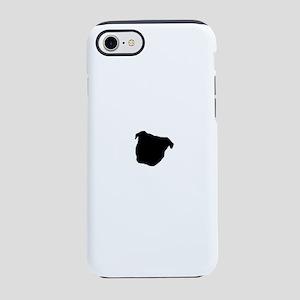 Staffie Outline iPhone 7 Tough Case