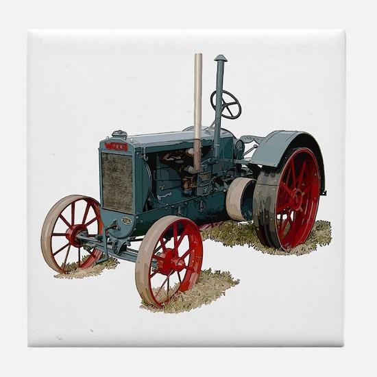 Cute Wallis tractors Tile Coaster