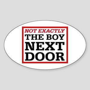 Dexter: Boy Next Door Oval Sticker