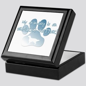 English Setter Granddog Keepsake Box