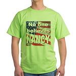 No one NANCY Green T-Shirt