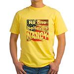 No one NANCY Yellow T-Shirt