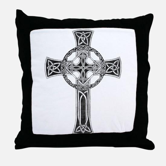 Classic Celtic Cross Throw Pillow