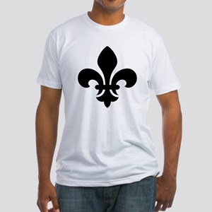 Black Fleur-de-Lys Fitted T-Shirt