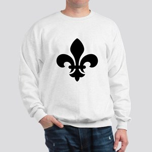 Black Fleur-de-Lys Sweatshirt