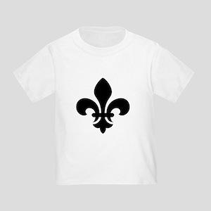 Black Fleur-de-Lys Toddler T-Shirt