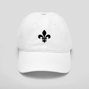 Black Fleur-de-Lys Cap