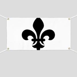 Black Fleur-de-Lys Banner