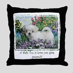 Lily Summer Throw Pillow