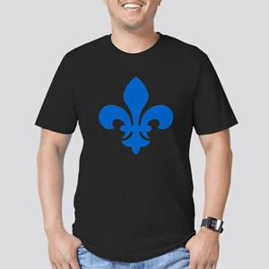 Blue Fleur-de-Lys Men's Fitted T-Shirt (dark)