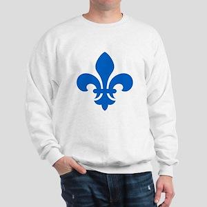 Blue Fleur-de-Lys Sweatshirt